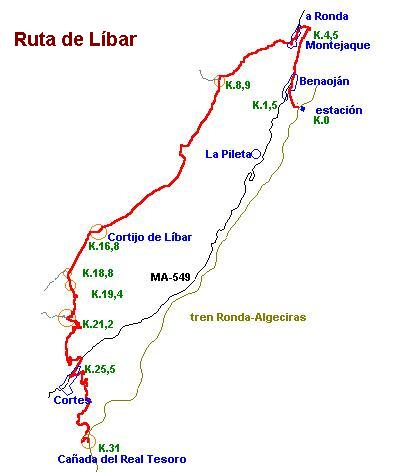 Imágenes del artículo: Ruta 26 - Líbar (Benaoján, Cortes)