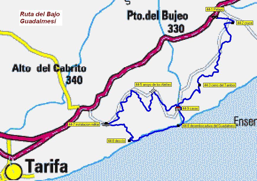 Imágenes del artículo: Ruta 45 - Del Bajo Guadalmesí  (puerto del Bujeo, Tarifa)
