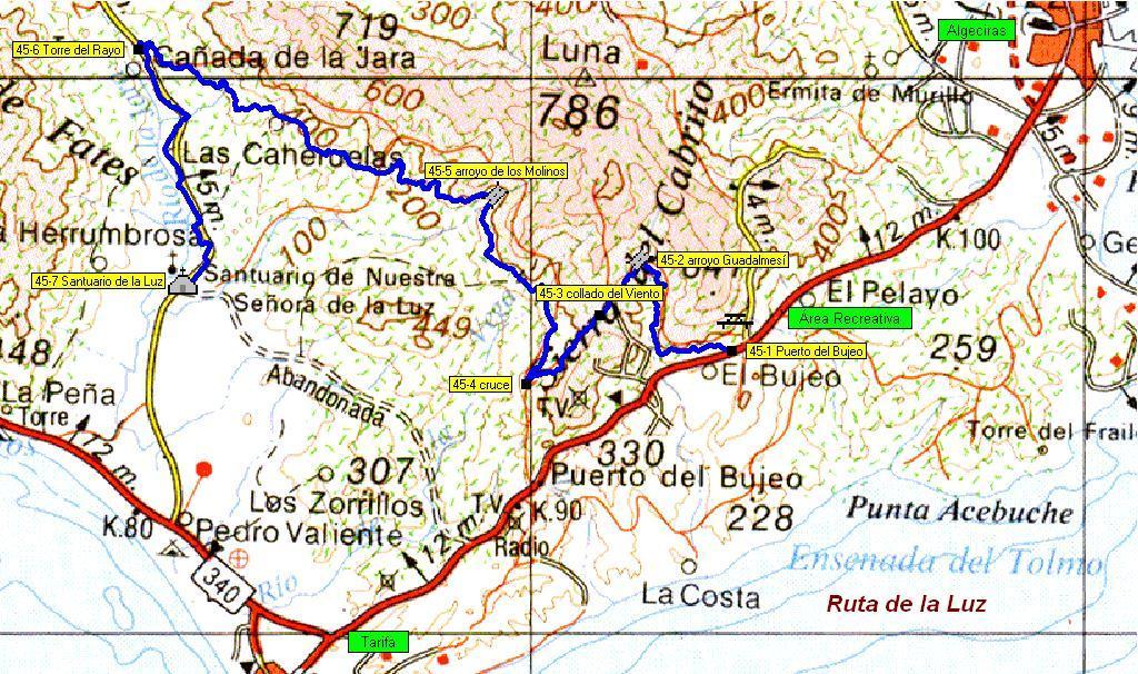 Imágenes del artículo: Ruta 46 - La Luz (puerto del Bujeo, Santuario de la Luz, Tarifa)