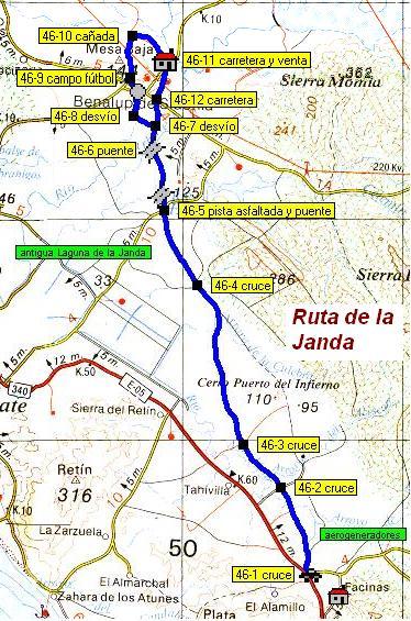 Imágenes del artículo: Ruta 47 - La Janda (Benalup, Facinas) (posible alternativa tercer tramo Corredor Verde Dos Bahías)