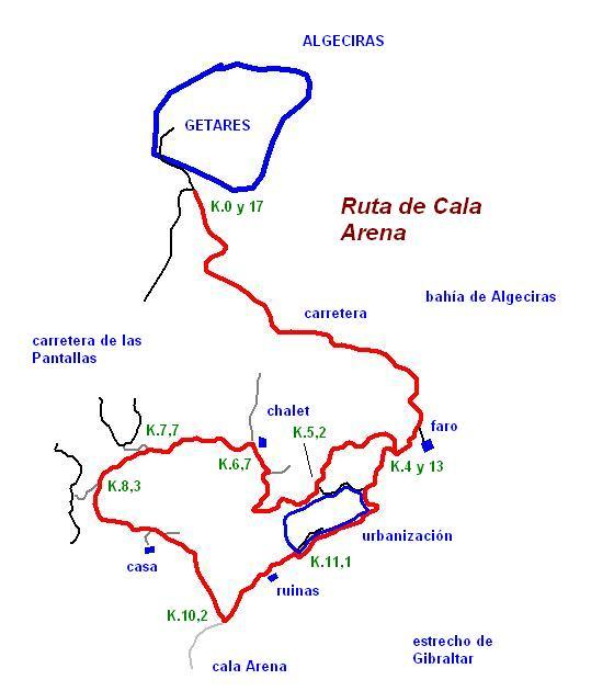 Imágenes del artículo: Ruta 49 - De Cala Arena (Getares, Algeciras)