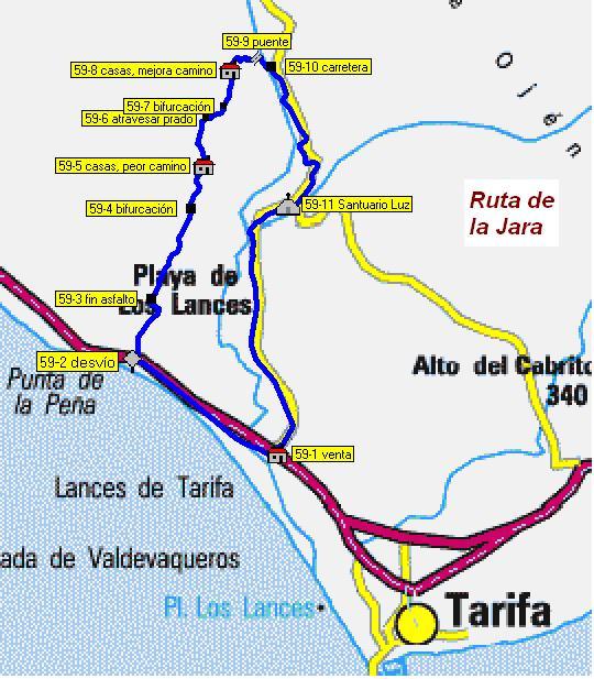 Imágenes del artículo: Ruta 59 - La Jara (Tarifa)